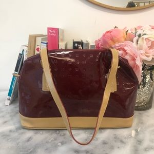 Arcadia Bags - Arcadia Two-Tone Patent Leather Bag